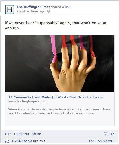 Facebook promovering af blogindlæg